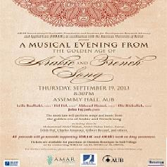 A Musical Evening from the Golden Age of Arabic and French Song